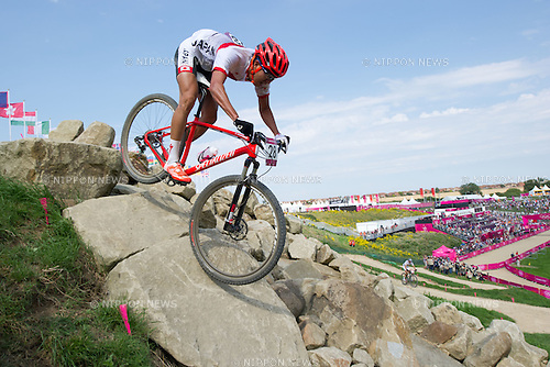 Kohei Yamamoto (JPN), .AUGUST 12, 2012 - Cycling Mountain Bike : .Men's Cross Country Mountain Bike at Hadleigh Farm during the London 2012 Olympic Games in Essex, UK. (Photo by Enrico Calderoni/AFLO SPORT) [0391]
