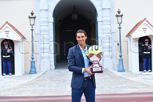 April 23rd 2017, Monte Carlo, Monaco; The Monte-Carlo Rolex Masters tennis tournament singles final, Rafael Nadal versus Albert Ramos-Vinolas; Nadal beats Albert Ramos-Vinolas in 2 sets to win the final