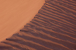 Close up of red sand at Mesquite Dunes in Death Valley California