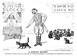 A World's Worker. Training black cats to appear on electioneering platforms at opportune moments.