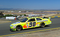 Jun. 21, 2009; Sonoma, CA, USA; NASCAR Sprint Cup Series driver Paul Menard during the SaveMart 350 at Infineon Raceway. Mandatory Credit: Mark J. Rebilas-