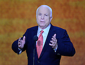 United States Senator John McCain (Republican of Arizona) makes remarks at the 2012 Republican National Convention in Tampa Bay, Florida on Wednesday, August 29, 2012.  .Credit: Ron Sachs / CNP.(RESTRICTION: NO New York or New Jersey Newspapers or newspapers within a 75 mile radius of New York City)