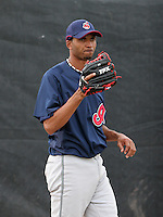Cleveland Indians minor leaguer Rafael Perez during Spring Training at the Chain of Lakes Complex on March 16, 2007 in Winter Haven, Florida.  (Mike Janes/Four Seam Images)