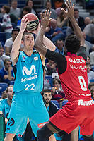 Movistar Estudiantes Niki Caner-Medley and Montakit Fuenlabrada Gabe Olaseni during Liga Endesa match between Movistar Estudiantes and Montakit Fuenlabrada at Wizink Center in Madrid, Spain. November 12, 2017. (ALTERPHOTOS/Borja B.Hojas) /NortePhoto.com