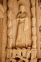 Romaesque doorway sculptures by the Croatian architect Master Radovan. Saint Lawrence Cathedral - Trogir - Croatia