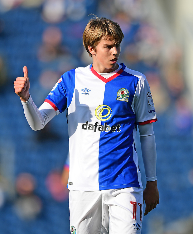 Blackburn Rovers' Martin Samuelsen<br /> <br /> Photographer Chris Vaughan/CameraSport<br /> <br /> The EFL Sky Bet Championship - Blackburn Rovers v Ipswich Town - Saturday 15th October 2016 - Ewood Park - Blackburn<br /> <br /> World Copyright &copy; 2016 CameraSport. All rights reserved. 43 Linden Ave. Countesthorpe. Leicester. England. LE8 5PG - Tel: +44 (0) 116 277 4147 - admin@camerasport.com - www.camerasport.com