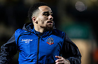 Bolton Wanderers' Kean Bryan warming up before the match <br /> <br /> Photographer Andrew Kearns/CameraSport<br /> <br /> The Premier League - Leicester City v Aston Villa - Monday 9th March 2020 - King Power Stadium - Leicester<br /> <br /> World Copyright © 2020 CameraSport. All rights reserved. 43 Linden Ave. Countesthorpe. Leicester. England. LE8 5PG - Tel: +44 (0) 116 277 4147 - admin@camerasport.com - www.camerasport.com