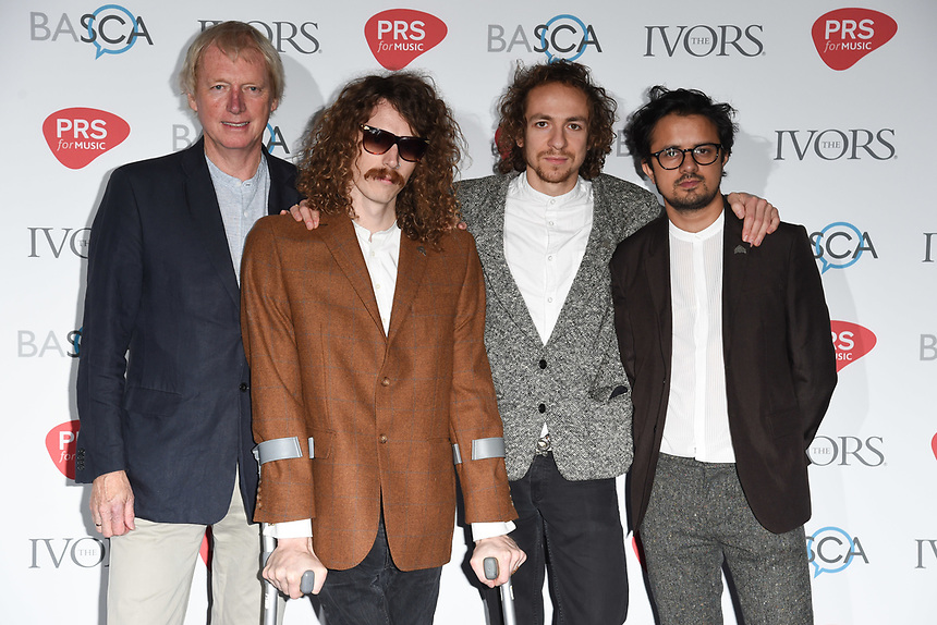 Mystery Jets<br /> at The Ivor Novello Awards 2017, Grosvenor House Hotel, London. <br /> <br /> <br /> ©Ash Knotek  D3267  18/05/2017