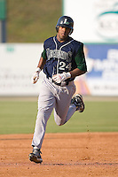 Steve Brown (24) of the Lexington Legends rounds the bases following a solo home run at Fieldcrest Cannon Stadium in Kannapolis, NC, Sunday June 15, 2008.