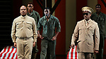 """David Alan Grier and Blair Underwood During the Broadway Opening Night Curtain Call Bows for The Roundabout Theatre Company's """"A Soldier's Play""""  at the American Airlines Theatre on January 21, 2020 in New York City."""