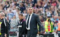 Everton Manager Sam Allardyce as West Ham score  during the Premier League match between West Ham United and Everton at the Olympic Park, London, England on 13 May 2018. Photo by Andy Rowland / PRiME Media Images.