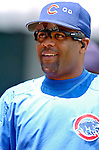 1 July 2005: Neifi Perez of the Chicago Cubs, sports his radio-sunglasses prior to a game against the Washington Nationals. The visiting Nationals defeated the Cubs 4-3 at Wrigley Field in Chicago.  Mandatory Photo Credit: Ed Wolfstein