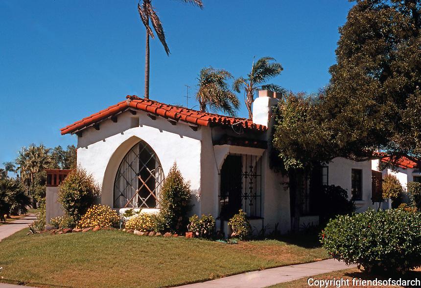 San Diego: Coronado California House. 1920's Romantic Spanish Revival.  (Photo '78)