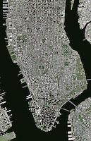 aerial photo map Manhattan, New York City