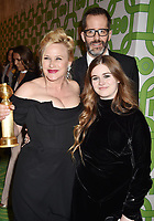 BEVERLY HILLS, CA - JANUARY 06: Patricia Arquette, Eric White and Harlow Olivia Calliope Jane attend HBO's Official Golden Globe Awards After Party at Circa 55 Restaurant at the Beverly Hilton Hotel on January 6, 2019 in Beverly Hills, California.<br /> CAP/ROT/TM<br /> &copy;TM/ROT/Capital Pictures