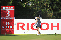 Bronte Law (ENG) on the 3rd tee during Round 4 of the Ricoh Women's British Open at Royal Lytham &amp; St. Annes on Sunday 5th August 2018.<br /> Picture:  Thos Caffrey / Golffile<br /> <br /> All photo usage must carry mandatory copyright credit (&copy; Golffile | Thos Caffrey)