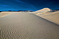 Ripples, curves, swirls and waves are numerous at Eureka Dunes at Death Valley National Park, California