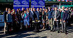 November 3, 2018 : Connections to Expert Eye #7, ridden by Frankie Dettori, winner of the Breeders' Cup Mile, in the winner's circle on Breeders Cup World Championships Saturday at Churchill Downs on November 3, 2018 in Louisville, Kentucky. Bill Denver/Eclipse Sportswire/CSM