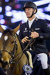 Rider in action at the Massimo Dutti Trophy during the Longines Hong Kong Masters 2015 at the Asiaworld Expo on 15 February 2015 in Hong Kong, China. Photo by Jerome Favre / Power Sport Images