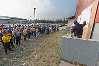 Morning briefing for the Eagle Trail forest fire near Tok, Alaska, May, 2010.