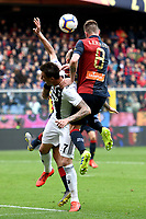 Mario Mandzukic of Juventus and Lukas Lerager of Genoa compete for the ball during the Serie A 2018/2019 football match between Genoa CFC and Juventus FC at stadio Luigi Ferraris, Genova, March 17, 2019 <br /> Photo Andrea Staccioli / Insidefoto