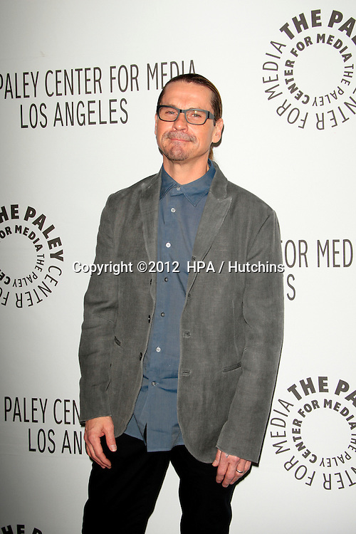 "LOS ANGELES - MAR 7:  Kurt Sutter arrives at the ""Sons of Anarchy"" PaleyFest Panel at the Saban Theater on March 7, 2012 in Los Angeles, CA"