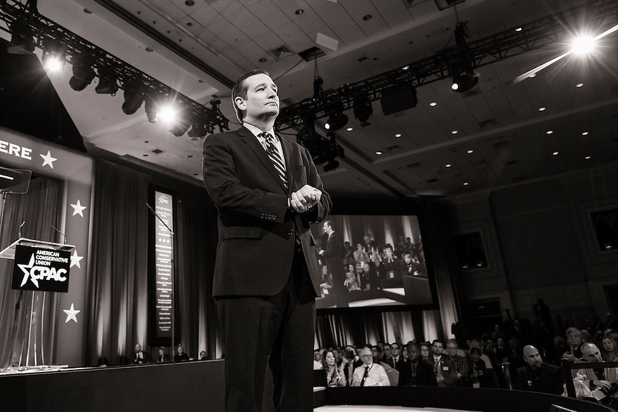 Texas Senator Ted Cruz speaks at the 2015 Conservative Political Action Conference (CPAC) outside Washington, DC