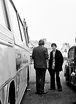 Beatles 1967 Paul McCartney with Mal Evans at a stop during  Magical Mystery Tour....