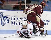 Greg Costa (NU - 22), Chris Kreider (BC - 19) - The Northeastern University Huskies defeated the Boston College Eagles 3-2 on Friday, February 19, 2010, at Matthews Arena in Boston, Massachusetts.