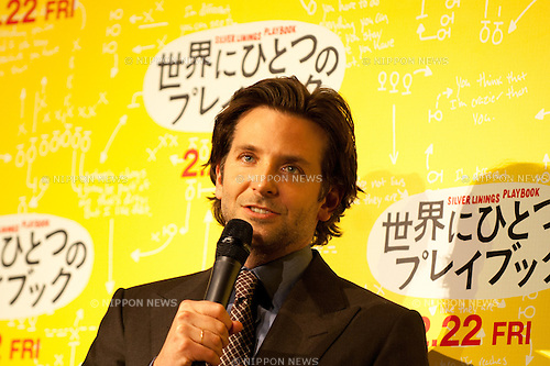 Bradley Cooper, Jan 24, 2013, Tokyo, Japan: Bradley Cooper appears at the Japan Premiere for Silver Linings Playbook at the Toho Cinemas in Tokyo, Japan on Thursday 24th January 2013. Bradley Cooper is visiting to promote his latest movie Silver Linings Playbook for the Japanese market. (Photo by Yumeto Yamazaki/Nippon News)