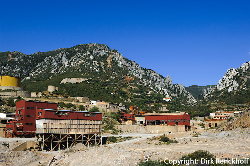 ehemaliges Bergwerk, Golfo di Gonnesa bei Masua, Provinz Carbonia-Iglesias, Südwst Sardinien, Italien