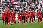 14.04.2019, Merkur Spielarena, Duesseldorf , GER, 1. FBL,  Fortuna Duesseldorf vs. FC Bayern Muenchen,<br />  <br /> DFL regulations prohibit any use of photographs as image sequences and/or quasi-video<br /> <br /> im Bild / picture shows: <br /> die Duesseldorfer verabschieden sich <br /> <br /> Foto © nordphoto / Meuter