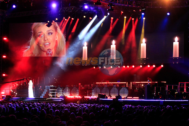 Catherine Jenkins performs at the opening concert at the Millenium Stadium, Cardiff, for the The 2010 Ryder Cup at the Celtic Manor, Newport, Wales, 28th September 2010..(Picture Eoin Clarke/www.golffile.ie)