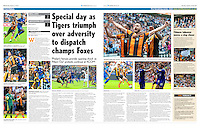 Match photography images of Hull City AFC v Leicester City FC used in the Hull Daily Mail