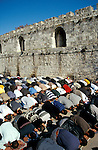 Israel, Jerusalem Old City, Ramadan Prayer at Haram esh Sharif