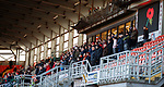 Crusaders fans observe a minutes silence for Remembrance