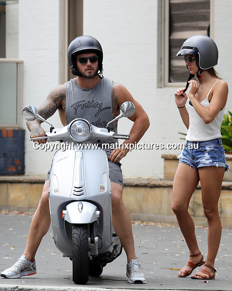 29 JANUARY 2017 SYDNEY AUSTRALIA<br /> WWW.MATRIXPICTURES.COM.AU<br /> <br /> EXCLUSIVE PICTURES<br /> <br /> Daniel Conn pictured on A Vespa scooter with his girlfriend in Surry Hills. <br /> <br /> Note: All editorial images subject to the following: For editorial use only. Additional clearance required for commercial, wireless, internet or promotional use.Images may not be altered or modified. Matrix Media Group makes no representations or warranties regarding names, trademarks or logos appearing in the images.