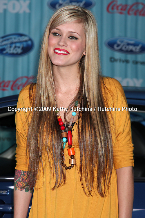 Megan Corkrey arriving at the American idol Top 13 Party at AREA in Los Angeles, CA  on.March 5, 2009.©2009 Kathy Hutchins / Hutchins Photo...                .