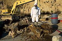 - illicit rubbish dump of toxic refusals discovered in Pitelli near La Spezia....- discarica abusiva di rifiuti tossici scoperta a Pitelli vicino a La Spezia........