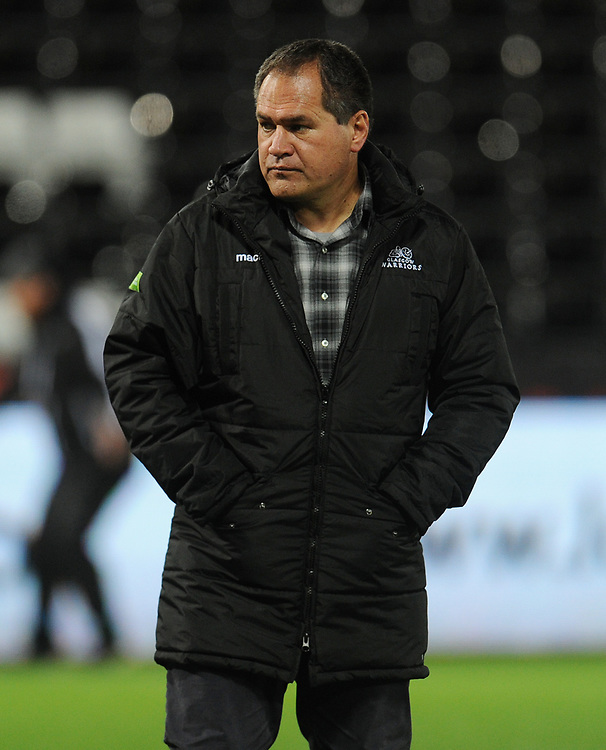 Glasgow Warriors' Head Coach Dave Rennie<br /> <br /> Photographer Kevin Barnes/CameraSport<br /> <br /> Guinness Pro14 Round 8 - Ospreys v Glasgow Warriors - Friday 2nd November 2018 - Liberty Stadium - Swansea<br /> <br /> World Copyright © 2018 CameraSport. All rights reserved. 43 Linden Ave. Countesthorpe. Leicester. England. LE8 5PG - Tel: +44 (0) 116 277 4147 - admin@camerasport.com - www.camerasport.com