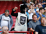 Derby County fan dressed as a ram during the Championship match at Bramall Lane, Sheffield. Picture date 26th August 2017. Picture credit should read: Simon Bellis/Sportimage