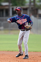 Minnesota Twins Candido Pimentel #11 during a minor league spring training intrasquad game at the Lee County Sports Complex on March 25, 2012 in Fort Myers, Florida.  (Mike Janes/Four Seam Images)