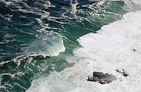 Heavy waves and rocks in ocean (aerial view) Cape of Good Hope, Western Cape Province, South Africa
