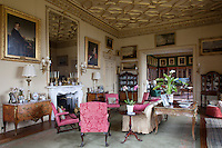 The grand drawing room, looking towards the library