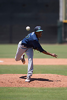 Seattle Mariners relief pitcher Dayeison Arias (77) follows through on his delivery during an Extended Spring Training game against the San Francisco Giants Orange at the San Francisco Giants Training Complex on May 28, 2018 in Scottsdale, Arizona. (Zachary Lucy/Four Seam Images)