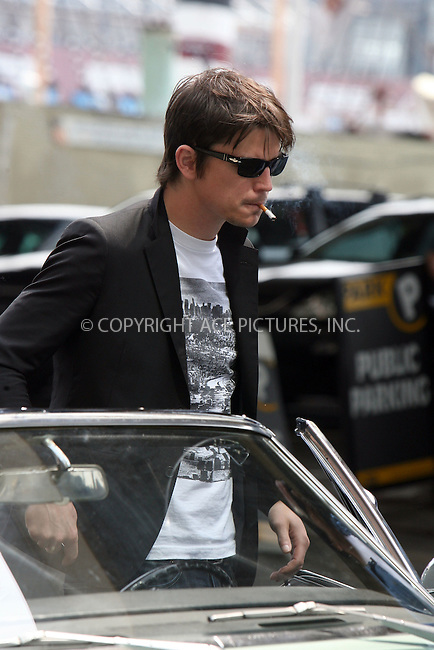 WWW.ACEPIXS.COM ** ** ** ....**EXCLUSIVE TO ACE PICTURES - FEE MUST BE AGREED BEFORE USE**....Actor Josh Hartnett was at the South Street Sea Port in Downtown Manhattan filming a scene for his latest movie 'August'. Directed by Austin Chick, 'August' centers on the story of two brothers fighting to keep their start-up company afloat on Wall Street during August 2001, just prior to the 9/11 terrorist attacks.....The scene includes Hartnett smoking which is currently controversial and could incur a higher rating for the movie.........Please byline: Philip Vaughan -- ACEPIXS.COM.. *** ***  ..Ace Pictures, Inc:  ..tel: (646) 769 0430..e-mail: info@acepixs.com..web: http://www.acepixs.com