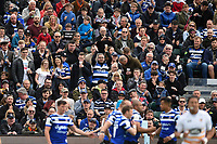 Bath Rugby supporters in the crowd celebrate a try from Jonathan Joseph. Gallagher Premiership match, between Bath Rugby and Wasps on May 5, 2019 at the Recreation Ground in Bath, England. Photo by: Patrick Khachfe / Onside Images
