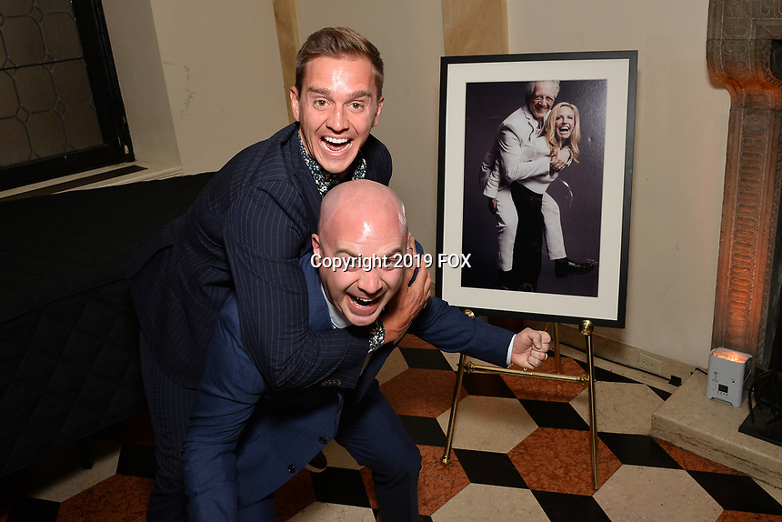 New York City, NY - MAY 23: (L-R) Stu Holden, Lead GC Match Analyst and John Strong, Lead GC Play-by_Play Announcer attend the Fox Sports FIFA Women's World Cup Send-off at the Consulate General of France in New York City. (Photo by Anthony Behar/Fox Sports/PictureGroup)