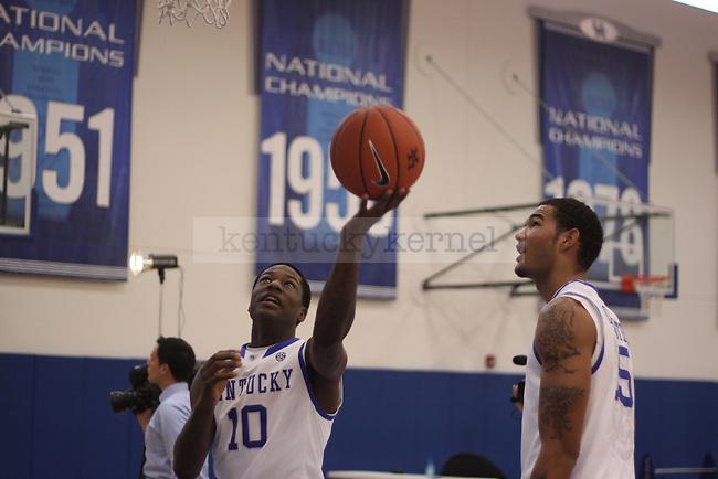 Basketball Media Day at Memorial Coliseum in Lexington, Kentucky on September 17, 2012. Photo by Scott Hannigan