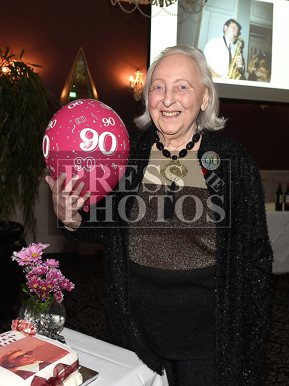 Carol Fraser celebrating her 90th birthday in The Westcourt Hotel. Photo:Colin Bell/pressphotos.ie